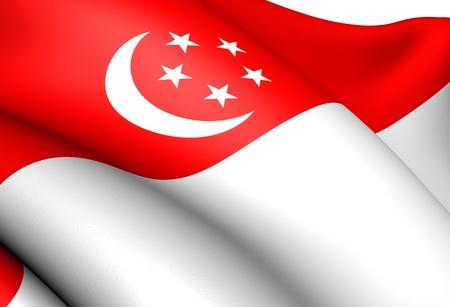singaporean flag: Flag of Singapore. Close up.  Editorial