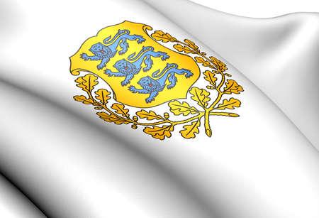 Estonia coat of arms. Close up.    photo
