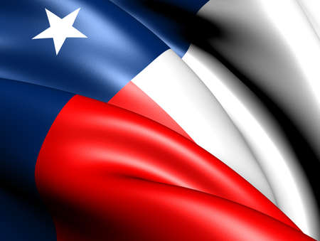 Flag of Texas, USA. Close up.   photo