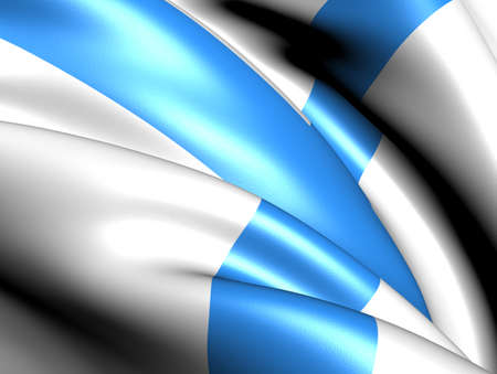 Flag of Marseille, France. Close up.    photo