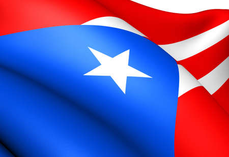 Flag of Puerto Rico. Close up.  photo