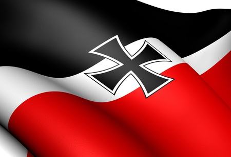 the empire state: Flag of German Empire (National and merchant flag). Close up.    Stock Photo
