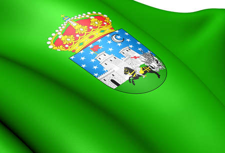 Flag of Guadalajara  city, Spain. Close up.  Stock Photo - 11751712