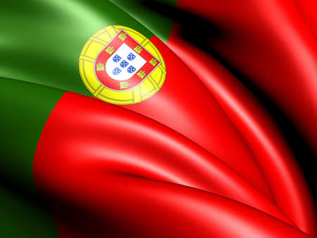 Bandera de Portugal. Close up. photo
