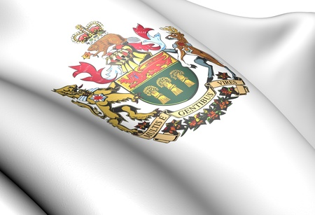 Saskatchewan coat of arms, Canada. Close up. photo