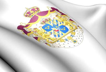 sverige: Sweden coat of arms. Close up.