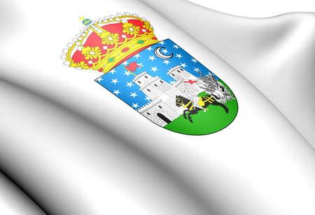 guadalajara: Guadalajara city coat of arms, Spain. Close up.  Stock Photo