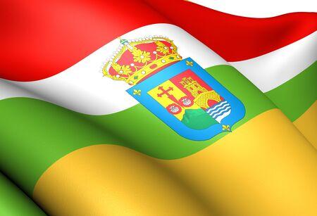 La Rioja flag, Spain. Close up. Stock Photo - 11751747