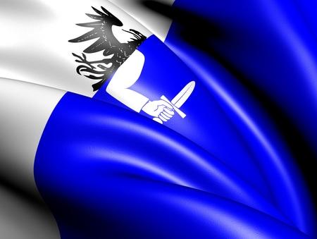 Flag of Connacht province, Ireland. Close up. Stock Photo - 11926597