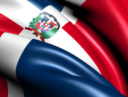 Flag of Dominican Republic. Close up.   photo