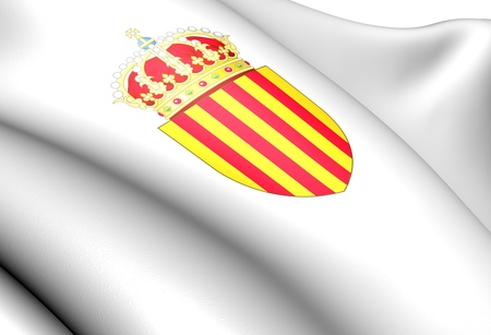 catalonian: Catalonia Coat of Arms, Spain. Close up.
