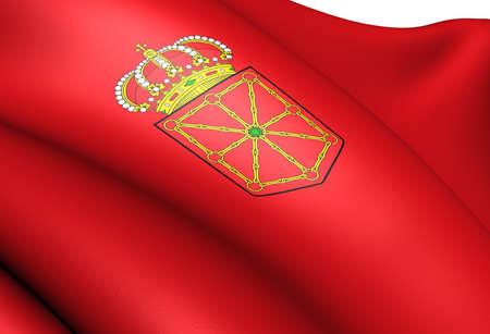 Flag of Navarre, Spain. Close Up.  photo