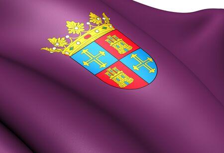 palencia province: Flag of Palencia City, Spain. Close up.