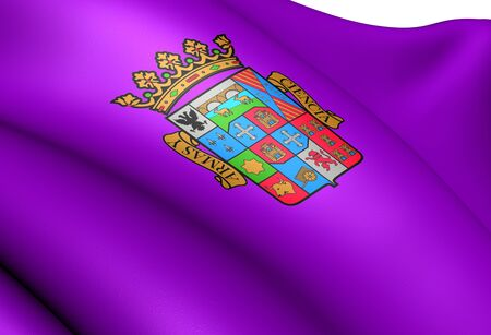 palencia province: Flag of Palencia Province, Spain. Close up.