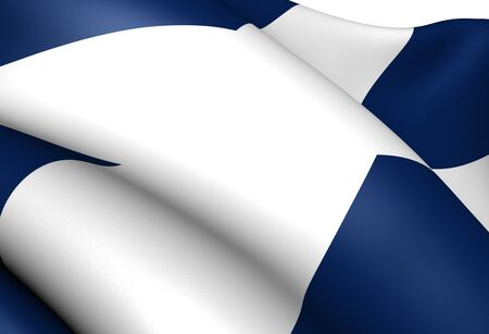 Flag of Scotland. Close Up.    photo