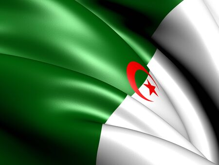 Flag of Algeria. Close Up.    Stock Photo - 12048753