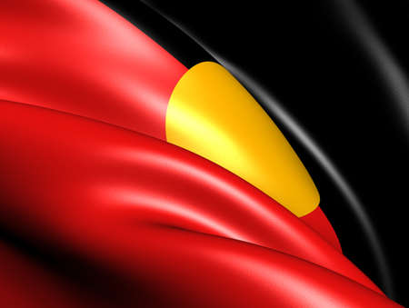 australia flag: Australian Aboriginal Flag. Close Up.