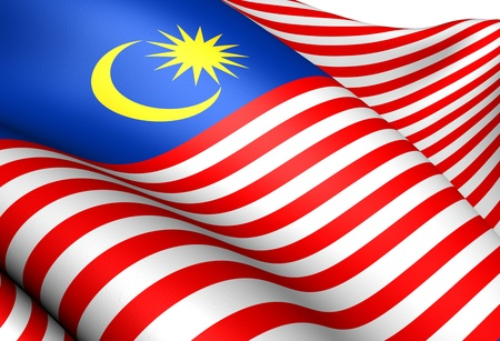 malaysia: Flag of Malaysia. Close Up.    Stock Photo