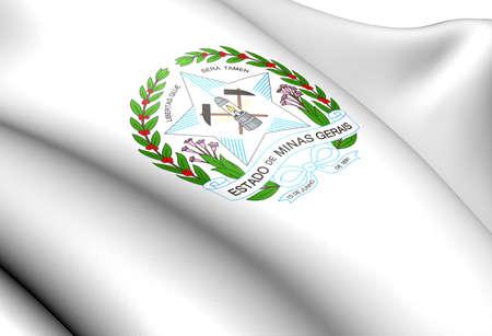 Minas Gerais Coat of Arms, Brazil. Close Up. photo