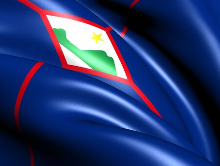 sint: Flag of Sint Eustatius. Close Up.