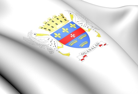 collectivity: Saint Barthelemy Coat of Arms. Close Up.
