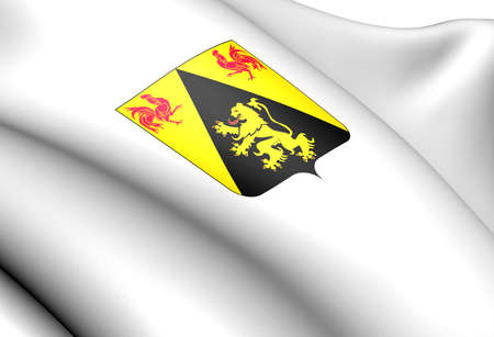 walloon: Walloon Brabant Coat of Arms, Belgium. Close Up.  Stock Photo