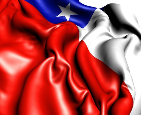 Flag of Chile. Close Up.   photo