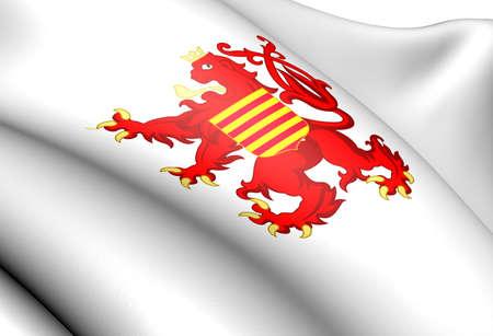 limburg: Flag of Limburg, Belgium. Close Up.