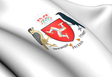 Isle of Man Coat of Arms. Close Up.  photo