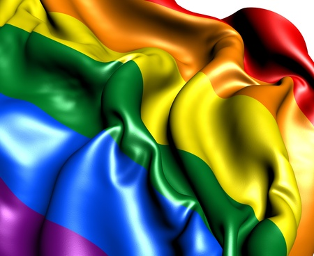 LGBT Flag. Close Up. 3D.     Stock Photo - 12215261