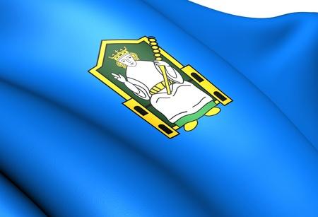 Flag of Mide, Ireland. Close Up.