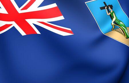 brutish: Flag of Montserrat. Close Up.  Stock Photo