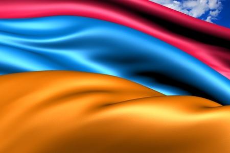 Flag of Armenia. Close Up.  photo