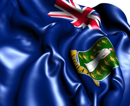 Flag of British Virgin Islands. Close Up.  photo