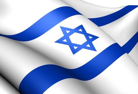 Flag of Israel. Close Up.