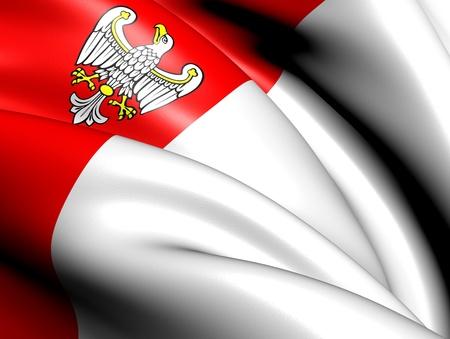 wielkopolskie: Flag of Greater Poland Voivodeship, Poland. Close Up.