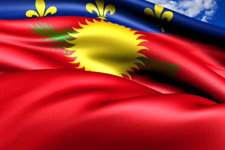 Flag of Guadeloupe. Close Up.  photo