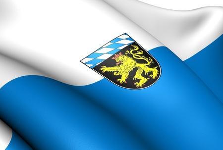 bavaria: Flag of Upper Bavaria, Germany. Close Up.