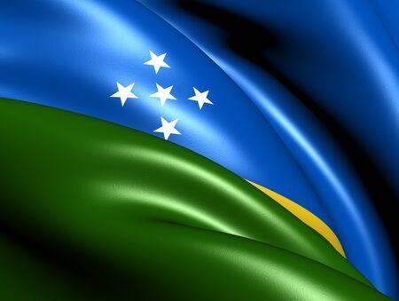 solomon: Solomon Islands Flag. Close Up.