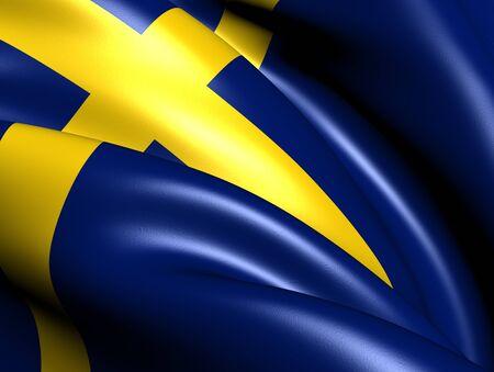europe closeup: Flag of Sweden. Close Up.
