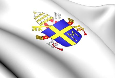 john: Pope John Paul IIs Coat of Arms. Close Up.  Stock Photo