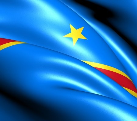republic of the congo: Flag of Democratic Republic of the Congo. Close Up.