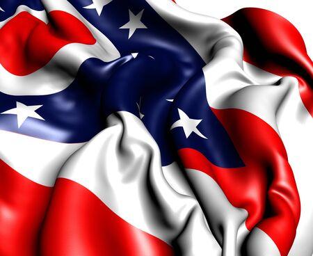 Flag of Ohio, USA. Close Up.   photo