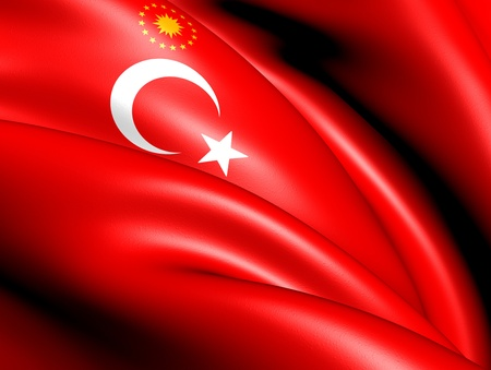 Presidential Flag of Turkey. Close Up.