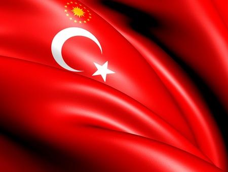 presidential: Presidential Flag of Turkey. Close Up.