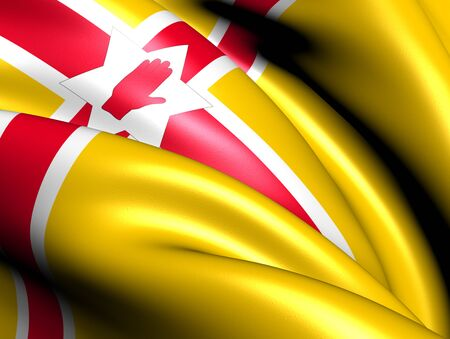 proposed: Proposed Flag of Northern Ireland. Close Up.    Stock Photo