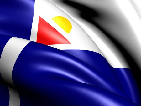 collectivity: Local Flag of Saint Martin. Close Up.
