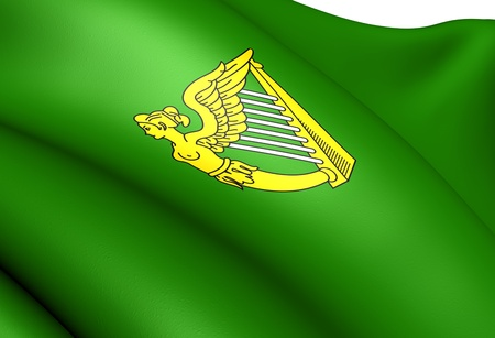 adopted: Flag of Ireland (adopted in the 17th century). Close Up.