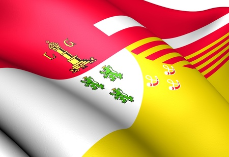 liege: Flag of Liege, Belgium. Close Up.