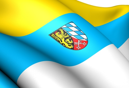 Flag of Upper Palatinate, Germany. Close Up.
